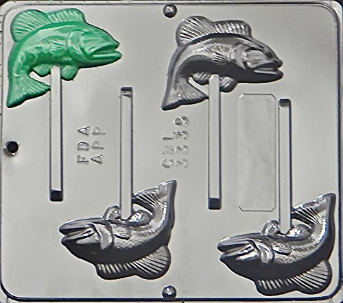 Candy Molds N More Bass Fish Lollipop Chocolate Candy Mold 3335