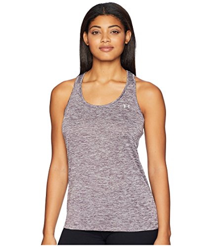 (Under Armour Women's UA Tech¿ Tank Top - Twist Pixel Purple/Metallic Silver Large)