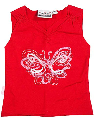 Wild Mango - Baby Girls Ribbed Sleeveless Top, Red, Pink,White (Toddler Girls Ribbed Sleeveless Top)