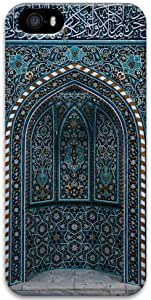 Apple iPhone 5 5S Case, 3D iPhone 5 5S Cases Hard Shell Cover Skin Cases Islamic Geometric Pattern