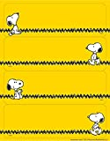 Eureka Yellow Snoopy Sticker Name Tags and