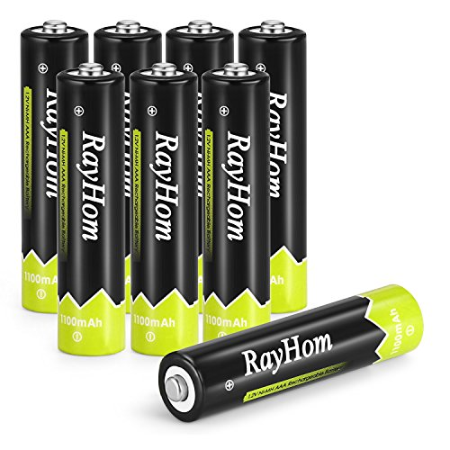 RayHom AAA Rechargeable Batteries 1100mAh Ni-MH Battery (8 Pack) by RayHom