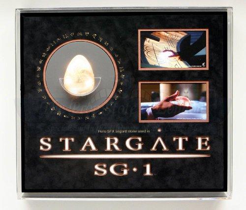 Original Movie Prop - Stargate SG-1 - Green Light Up Asgard Stone Display