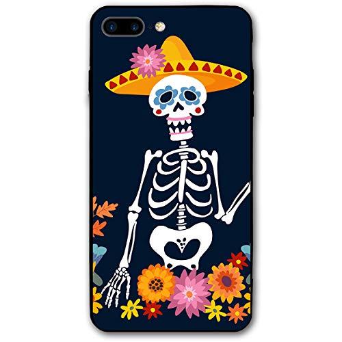 WSXEDC Custom iPhone 8 Plus Case/iPhone 7 Plus Case Dia De Los Muertos Greeting Printed Case for Apple 5.5