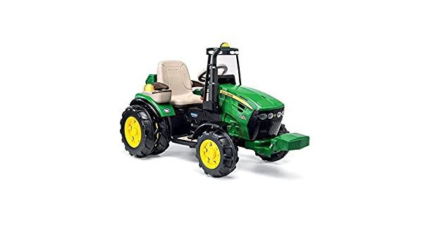 Peg Perego igor0077 John Deere Dual Force Tractor eléctrico Full Optional: Amazon.es: Juguetes y juegos