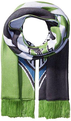 adidas MLS Seattle Sounders FC Adult MLS SP17 Fan Wear Jacquard Scarf with Fringe,OSFA,Green