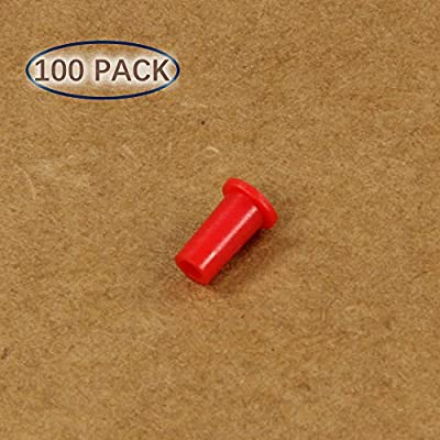Plastic Universal Dust Cap for 1.25mm Ferrules. Fits LC, MU. 100 pcs/pack, Red Color
