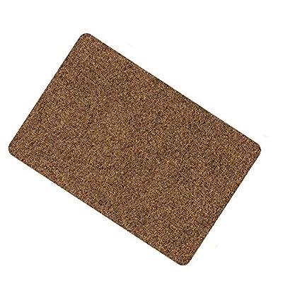 Door Mat for Indoor Outdoor Super Absorbs Mud Doormat for Small Front Door Outside Floor Dirt Trapper Mats Polyester Fiber Entrance Rug15.5''X23'' Shoes Scraper Super Grip Rubber Backing Non Slip Brow