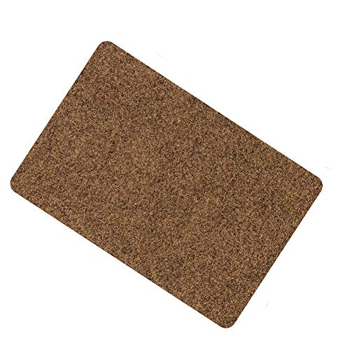 Door Mat for Indoor Outdoor Super Absorbs Mud Doormat for Small Front Door Outside Floor Dirt Trapper Mats Polyester Fiber Entrance Rug15.5X23 Shoes Scraper Super Grip Rubber Backing Non Slip Brow
