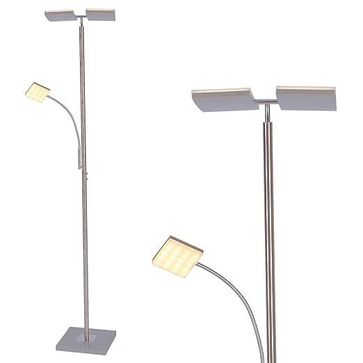 Lámpara de Pie Led Moderno con Brazo Lectura 196cm Altura ...