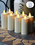 NONNO&ZGF 8PACK Moving Wick LED Candles 1.75'' X 4.3'' flameless Votive candles W/RC