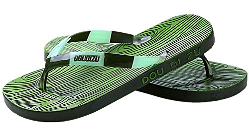 Anbover Mens Confortable Tong Sandal Beach Flip Flop Vert