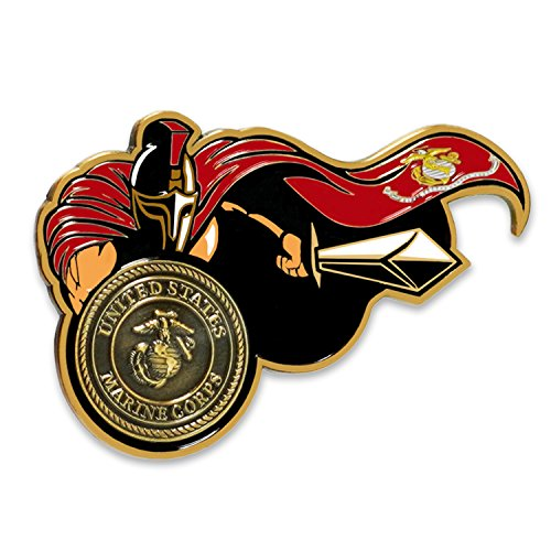 - USMC Spartan Warrior Molon Labe Marine Corps Challenge Coin