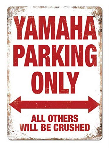 Dozili Yamaha Parking Only Wall Sign Metallic Plate 12