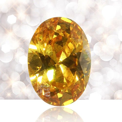 TM CaandShop Yellow Sapphire 14mm 10pcs Gem Oval Shape Natural Loose Gemstone Jewelry Gifts U