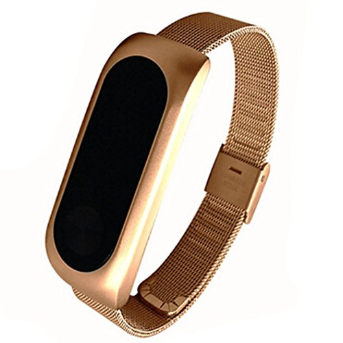 Price comparison product image Dreamyth Replacement Band Strap Bracelet for Xiaomi Mi Band 2 Smartband (Gold)