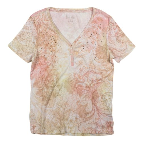 womens-nicole-miller-new-york-embellished-button-tee-small-pink-printed
