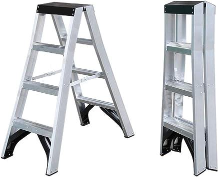 Escalera multifuncional, de aleación de aluminio, para interior y exterior, escalera de almacenamiento, decoración para el hogar, escalera de pie, seguridad, nivel de carga 180 kg, estable: Amazon.es: Oficina y papelería