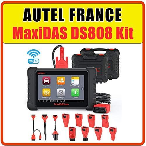 Autel France Autel Maxidas Ds808 Adapter Set Obd2 Diagnosekoffer Pro Multi Marken Modell Mit Garantie Lesen Löschen Von Fehlern Reset Wartung Injektoren Fap Auto