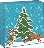 """Brunnen Adventskalender Fun Collection """"Eule und Fuchs"""" - Größe: 26 x 26 x 5 cm - Alternative zur Schokolade"""