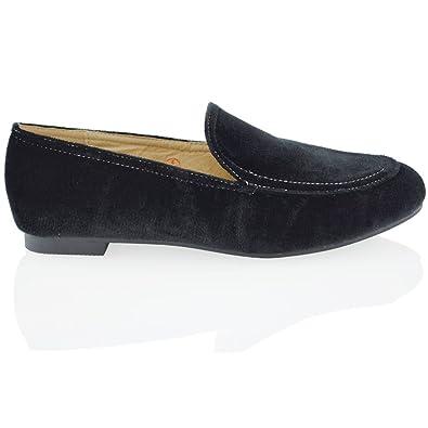 Damen Flach Pumpen Burgund Samt Classic Schuhe EU 39 ESSEX GLAM NfhFfFM6E