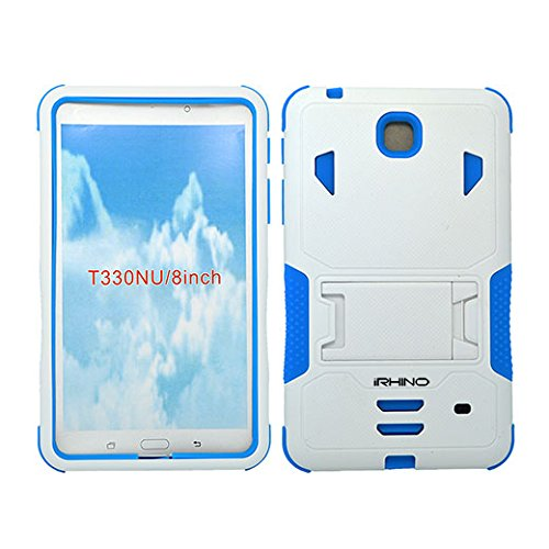 Cheap Cases [iRhino] TM WHITE-BLUE Heavy Duty rugged impact Hybrid Case cover with Build..