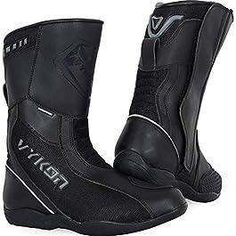 Vykon Navigator Motorcycle Touring Waterproof Boots: Black