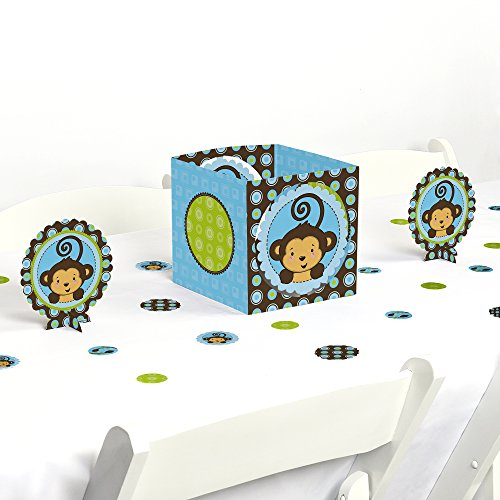 Monkey Boy - Baby Shower or Birthday Party Centerpiece & Table Decoration Kit