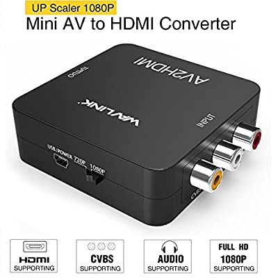 RCA to HDMI Converter,HDMI to RCA Converter,Wavlink 3RCA CVBs AV Composite Video Audio Converter Adapter