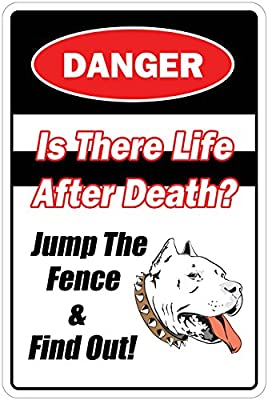 "Is There Life After Death Jump Fence & Find Out 8"" x 12"" Funny Metal Novelty Sign Aluminum N..."
