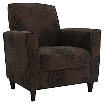 DHI Enzo Sunflower Contemporary Style Accent Arm Chair (Brown)