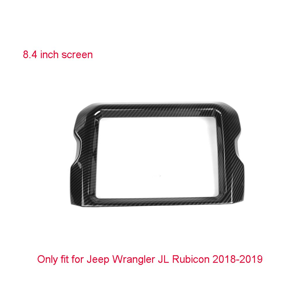 8.4  Car GPS Navigation Panel Cover Trim for Jeep Wrangler JL Rubicon 20182019