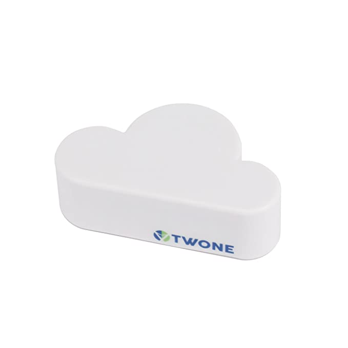 Amazon.com: Llavero con forma de nube, Blanco: Office Products