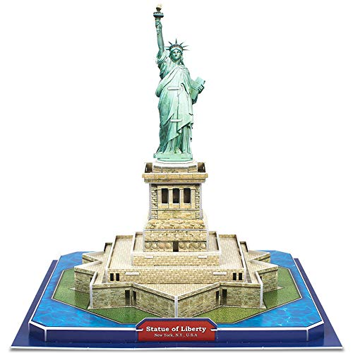 CubicFun 3D New York Puzzles Small Architecture Buildings Paper Craft Model Kits Toys for Adults and Teens, Statue of Liberty (Original Design Of The Statue Of Liberty)