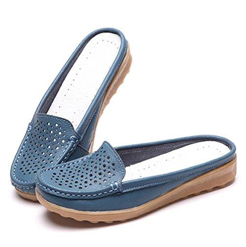 Zapatos Casa Cuero Mujeres UK4 5 7 CN37 Blue 5 SHANGXIAN 5 Zapatos Casual Verano Pisos US6 Respirable Zapatilla EU37 Blue Ahuecar v55zC8wq