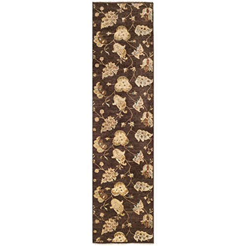 Safavieh Agra Collection AGR370B Hand-Knotted Brown Premium Wool Runner (2' 6