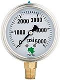 Zenport LPG5000 Zen-Tek Glycerin Liquid Filled Pressure Gauge, 5000 PSI