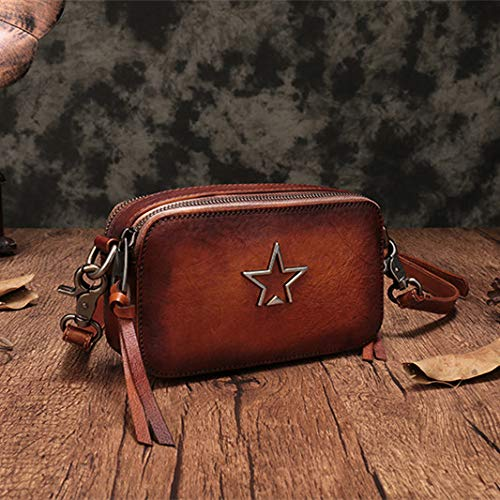 Small Crossbody Women Square Cowhide Multi GAOQQ Bags Compartment Bag Single Leather Shoulder For RnOwqvSH