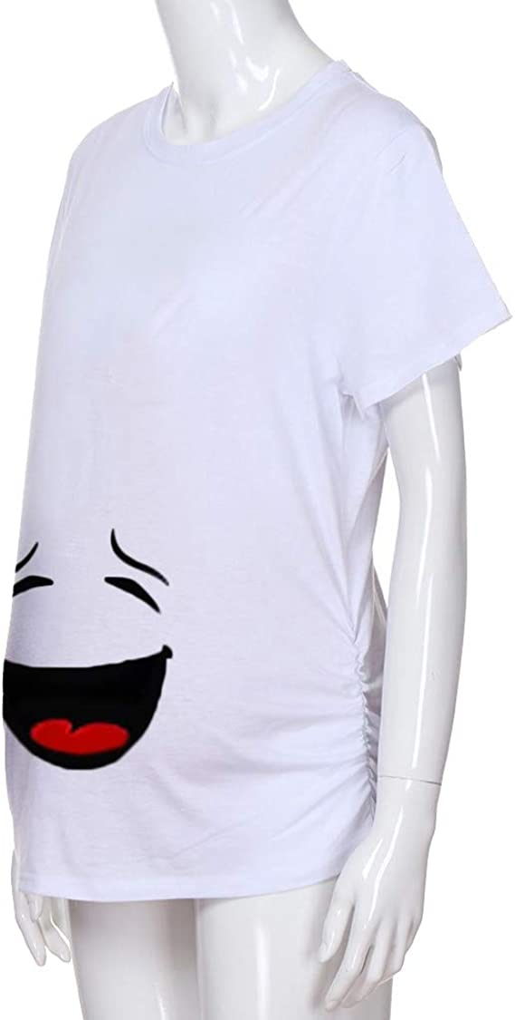 VECDY Camisetas para Premam/á Verano Suave Elastico Blusas Enfermera Manga Corta para Embarazada Maternidad Tops Camiseta con Estampado Materno Blusas 2019 Oferta