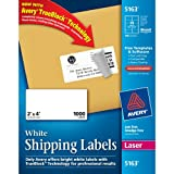 Avery Mailing Labels for Laser Printers, 2 x 4 Inches, 10-Up, White, Box of 1000 (05163), Office Central