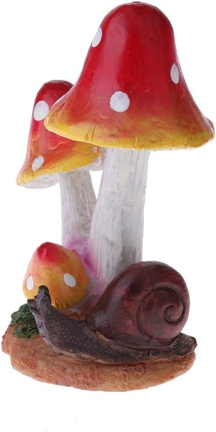 Fungo Farfalla Arancione FLAMEER Decorazioni per La Casa di Vasi in Terracotta di Muschio E Terrario di Ornamenti Animali