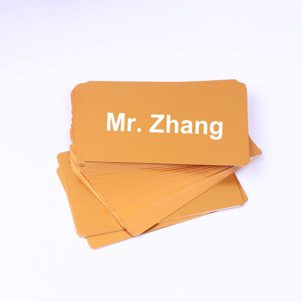 HEALLILY Red Metal Business Cards Blanks Aluminum Plaque Plate for Customer Engraving Sublimation Print DIY Gift Cards 50 Pcs