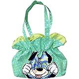 Sac en forme de Fleur Minnie Bleu à pois vert DISNEY 56 cm