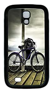 Samsung Galaxy S4 Case,Customize Ultra Slim Dock Bicycle Soft Rubber TPU Black Case Bumper Cover for S4