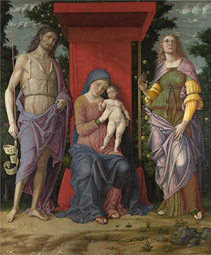 High Quality Polyster Canvas ,the Replica Art DecorativeCanvas Prints Of Oil Painting 'Andrea Mantegna The Virgin And Child With Saints ', 30 X 36 Inch / 76 X 92 Cm Is Best For Foyer Decoration And Home Decor And Gifts