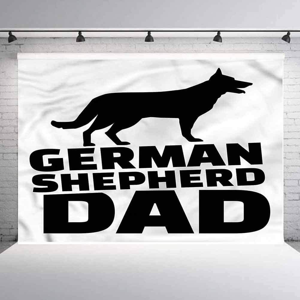 6x6FT Vinyl Backdrop Photographer,German Shepherd,Alsatian Dog Dad Background for Baby Shower Bridal Wedding Studio Photography Pictures