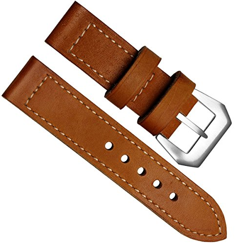 20mm-panerai-style-genuine-leather-black-stainless-steel-buckle-watch-band-strap-tan