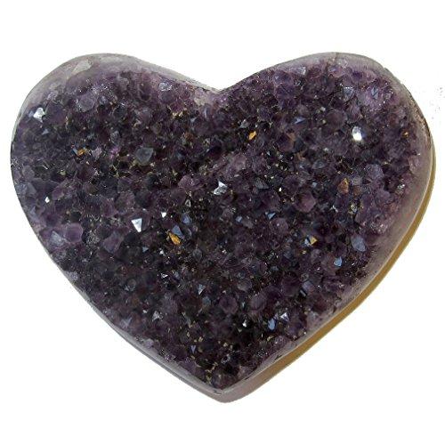 Amethyst Heart 51 Purple Crystal Deep Love Soul Mate Stone Healing Energy Gift 4.6'' by SatinCrystals