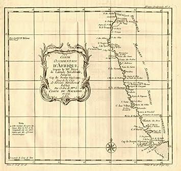 Carte Afrique Du Sud Ouest.Coste Ouest D Afrique Afrique Du Sud Et Namibie Bellin 1758