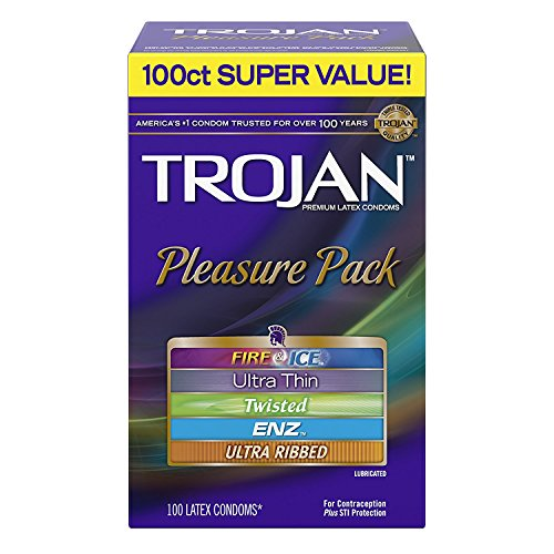 Trojan Super Value Pleasure Pack Lubricated Condoms DJmdce, 200 Count by Trojan